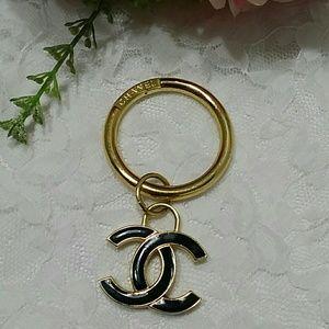 CHANEL logo purse charm or keychain